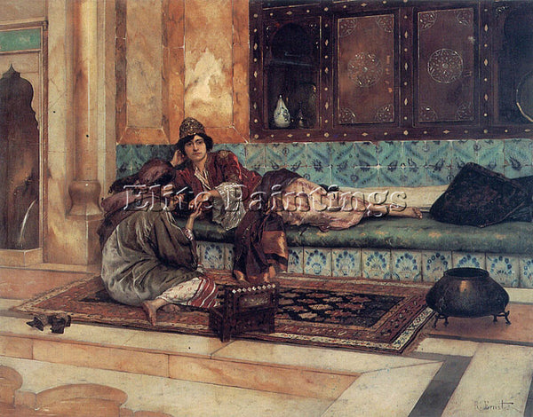 RUDOLF ERNST THE MANICURE ARTIST PAINTING REPRODUCTION HANDMADE OIL CANVAS REPRO