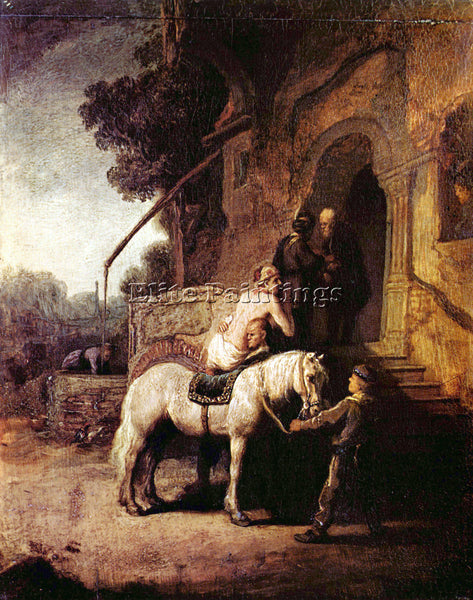 REMBRANDT THE MERCIFUL SAMARITAN ARTIST PAINTING REPRODUCTION HANDMADE OIL REPRO