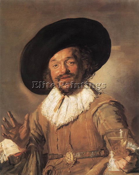 FRANS HALS THE MERRY DRINKER ARTIST PAINTING REPRODUCTION HANDMADE CANVAS REPRO