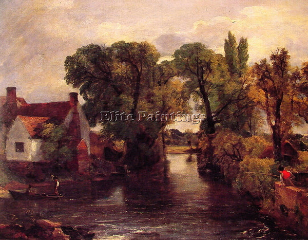 JOHN CONSTABLE THE MILL STREAM ARTIST PAINTING REPRODUCTION HANDMADE OIL CANVAS