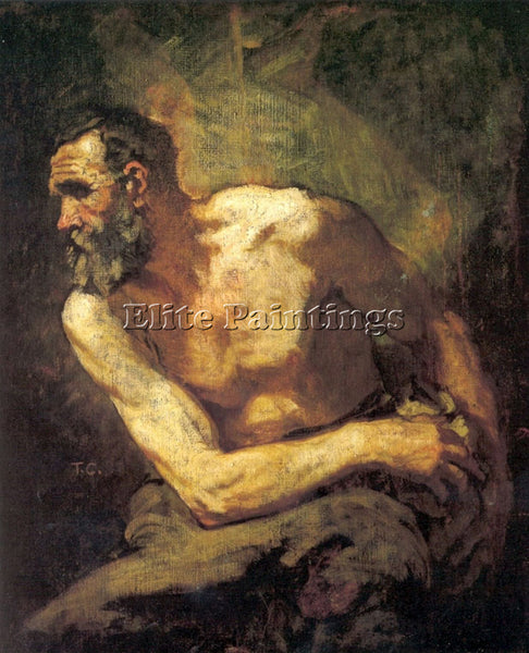 THOMAS COUTURE THE MISER STUDY FOR TIMON OF ATHENS ARTIST PAINTING REPRODUCTION