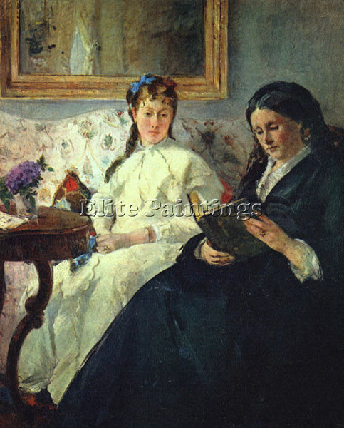 BERTHE MORISOT THE MOTHER AND SISTER OF THE ARTIST THE LECTURE PAINTING HANDMADE