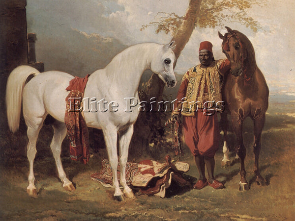ALFRED DEDREUX THE MOUNTS OF ABD EL KADER ARTIST PAINTING REPRODUCTION HANDMADE