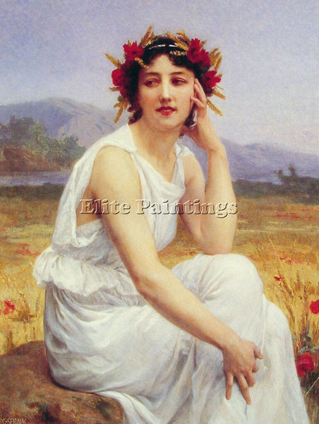 GUILLAUME SEIGNAC MUSE ARTIST PAINTING REPRODUCTION HANDMADE CANVAS REPRO WALL