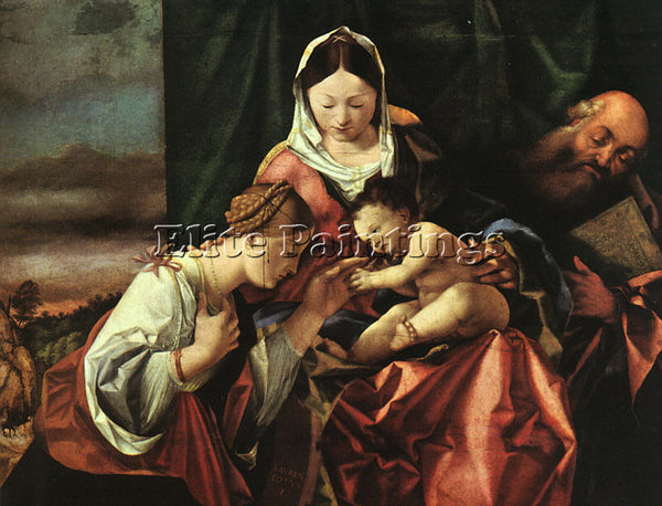 LORENZO LOTTO THE MYSTIC MARRIAGE OF ST CATHERINE ARTIST PAINTING REPRODUCTION