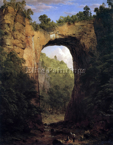 HUDSON RIVER THE NATURAL BRIDGE VIRGINIA BY FREDERICK EDWIN CHURCH REPRODUCTION
