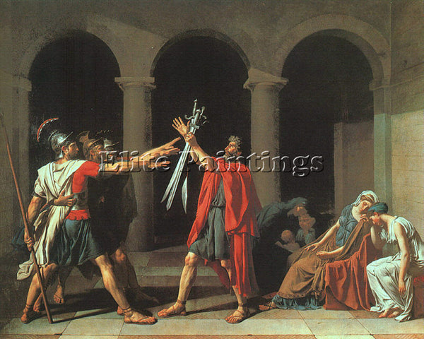 JACQUES-LOUIS DAVID THE OATH OF THE HORATII CGF ARTIST PAINTING REPRODUCTION OIL