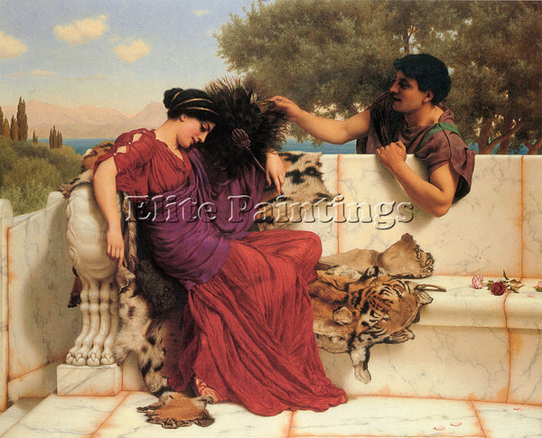 JOHN GODWARD THE OLD OLD STORY ARTIST PAINTING REPRODUCTION HANDMADE OIL CANVAS