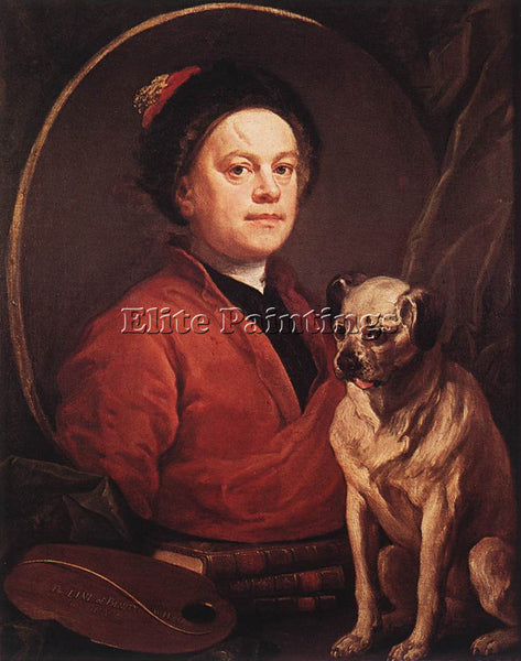 WILLIAM HOGARTH THE PAINTER AND HIS PUG ARTIST PAINTING REPRODUCTION HANDMADE