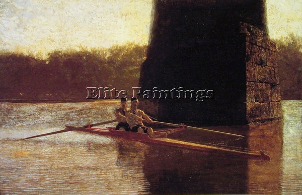 THOMAS EAKINS THE PAIR OARED SHELL ARTIST PAINTING REPRODUCTION HANDMADE OIL ART
