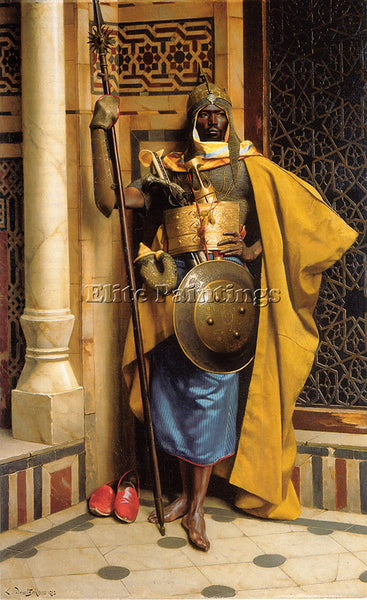 LUDWIG DEUTSCH THE PALACE GUARD ARTIST PAINTING REPRODUCTION HANDMADE OIL CANVAS