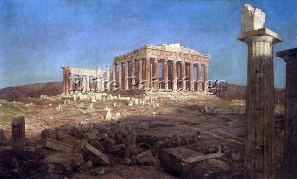 HUDSON RIVER THE PARTHENON BY FREDERICK EDWIN CHURCH ARTIST PAINTING HANDMADE