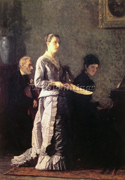 THOMAS EAKINS THE PATHETIC SONG ARTIST PAINTING REPRODUCTION HANDMADE OIL CANVAS