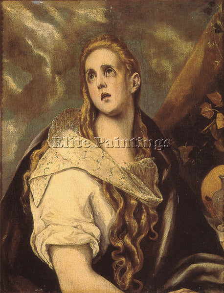EL GRECO THE PENITENT MAGDALEN ARTIST PAINTING REPRODUCTION HANDMADE OIL CANVAS