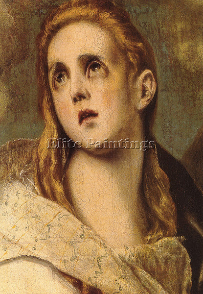 EL GRECO THE PENITENT MAGDALEN DETAIL ARTIST PAINTING REPRODUCTION HANDMADE OIL