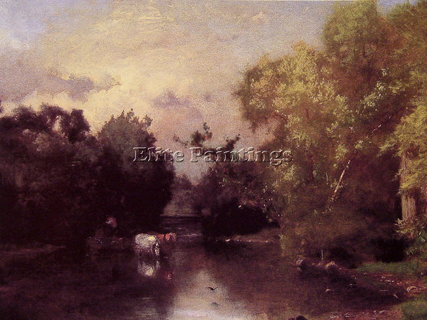 GEORGE INNESS THE PEQUONIC NEW JERSEY ARTIST PAINTING REPRODUCTION HANDMADE OIL