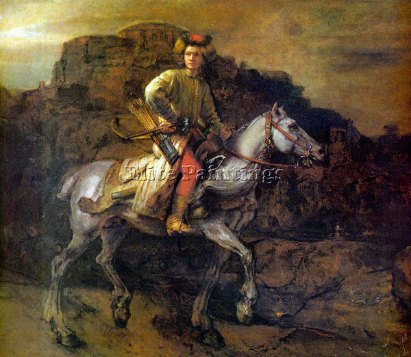 REMBRANDT THE POLISH RIDER ARTIST PAINTING REPRODUCTION HANDMADE OIL CANVAS DECO