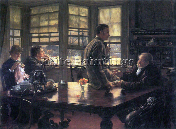 TISSOT THE PRODIGAL SON IN MODERN LIFE THE FAREWELL ARTIST PAINTING REPRODUCTION