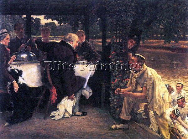 TISSOT THE PRODIGAL SON IN MODERN LIFE THE FATTENED CALF ARTIST PAINTING CANVAS