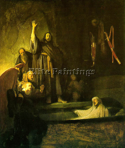 REMBRANDT THE RAISING OF LAZARUS ARTIST PAINTING REPRODUCTION HANDMADE OIL REPRO