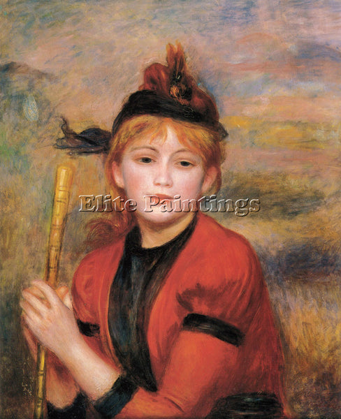 PIERRE AUGUSTE RENOIR THE RAMBLER ARTIST PAINTING REPRODUCTION HANDMADE OIL DECO