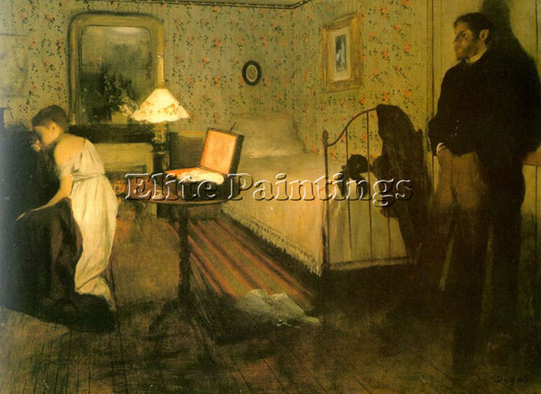 EDGAR DEGAS THE RAPE ARTIST PAINTING REPRODUCTION HANDMADE OIL CANVAS REPRO WALL