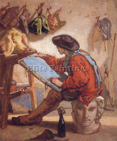 THOMAS COUTURE THE REALIST STUDY ARTIST PAINTING REPRODUCTION HANDMADE OIL REPRO