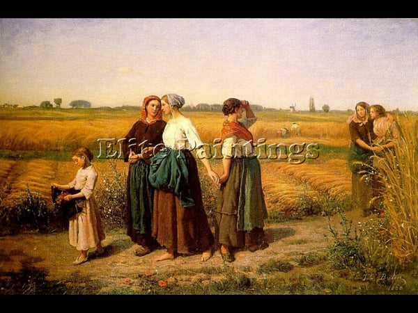 JULES BRETON THE REAPERS ARTIST PAINTING REPRODUCTION HANDMADE CANVAS REPRO WALL