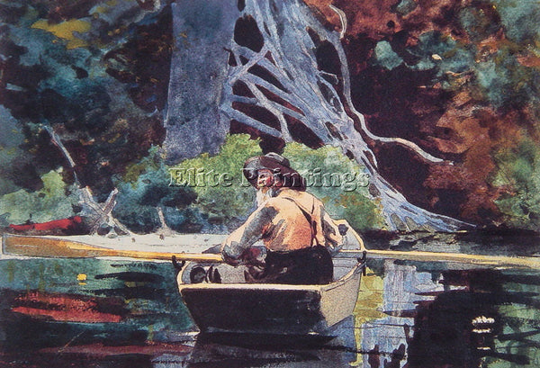 WINSLOW HOMER THE RED CANOE ARTIST PAINTING REPRODUCTION HANDMADE OIL CANVAS ART