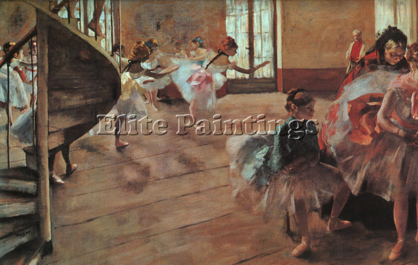 EDGAR DEGAS THE REHEARSAL ARTIST PAINTING REPRODUCTION HANDMADE OIL CANVAS REPRO