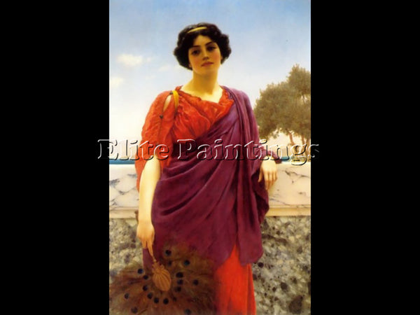JOHN WILLIAM GODWARD THE RENDEZVOUS 1903 ARTIST PAINTING REPRODUCTION HANDMADE