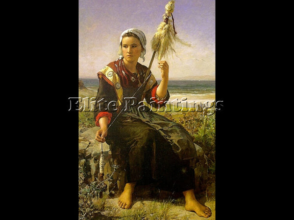 JULES BRETON THE REST OF THE HAYMAKERS ARTIST PAINTING REPRODUCTION HANDMADE OIL