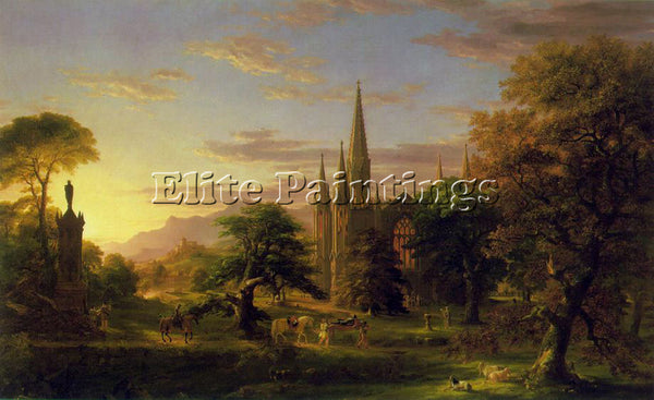 THOMAS COLE THE RETURN ATC ARTIST PAINTING REPRODUCTION HANDMADE OIL CANVAS DECO