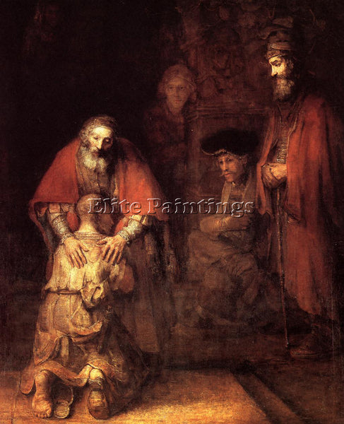 REMBRANDT THE RETURN OF THE PRODIGAL SON ARTIST PAINTING REPRODUCTION HANDMADE