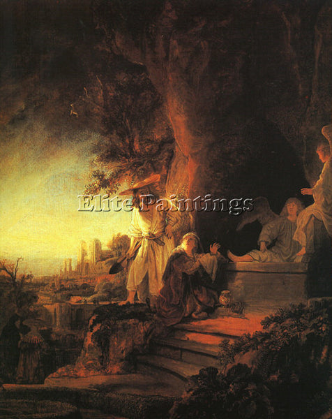 REMBRANDT THE RISEN CHRIST APPEARING TO MARY MAGDALEN ARTIST PAINTING HANDMADE