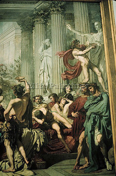 THOMAS COUTURE THE ROMANS OF THE DECADENCE DETAIL1 ARTIST PAINTING REPRODUCTION