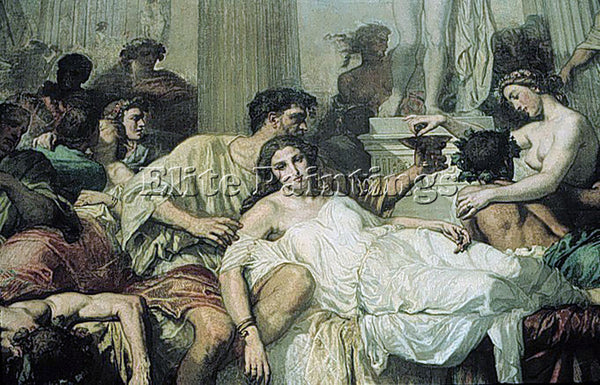 THOMAS COUTURE THE ROMANS OF THE DECADENCE DETAIL2 ARTIST PAINTING REPRODUCTION
