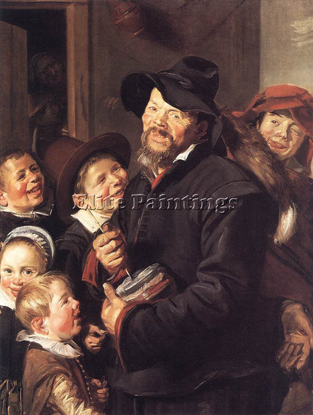 FRANS HALS THE ROMMEL POT PLAYER ARTIST PAINTING REPRODUCTION HANDMADE OIL REPRO