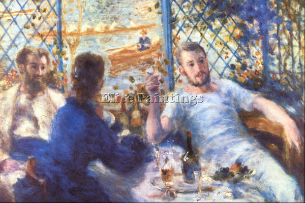 RENOIR THE ROWERS LUNCH ARTIST PAINTING REPRODUCTION HANDMADE CANVAS REPRO WALL