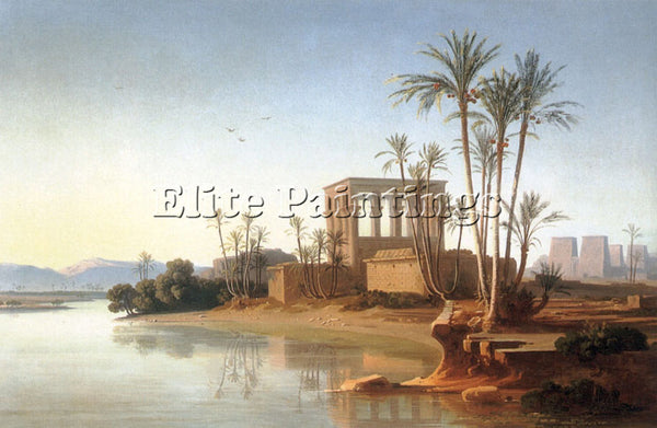 SWISS THE RUINS AT PHILAE EGYPT ARTIST PAINTING REPRODUCTION HANDMADE OIL CANVAS