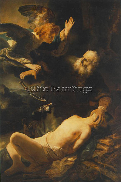 REMBRANDT THE SACRIFICE OF ABRAHAM ARTIST PAINTING REPRODUCTION HANDMADE OIL ART