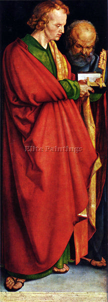 DURER THE SAINTS JOHN AND PETER ARTIST PAINTING REPRODUCTION HANDMADE OIL CANVAS