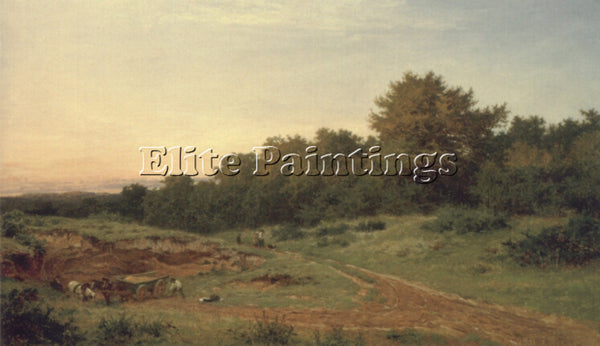BENJAMIN WILLIAMS LEADER THE SANDPIT BURROWS CROSS ARTIST PAINTING REPRODUCTION