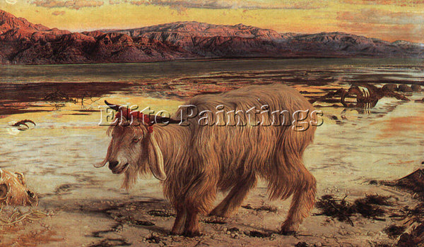 WILLIAM HOLMAN HUNT THE SCAPEGOAT ARTIST PAINTING REPRODUCTION HANDMADE OIL DECO