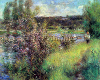 RENOIR THE SEINE AT CHATOU ARTIST PAINTING REPRODUCTION HANDMADE OIL CANVAS DECO