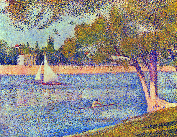 SEURAT THE SEINE AT THE GRAND JATTE SPRING ARTIST PAINTING REPRODUCTION HANDMADE
