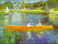 RENOIR THE SEINE ARTIST PAINTING REPRODUCTION HANDMADE OIL CANVAS REPRO WALL ART
