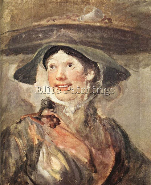 WILLIAM HOGARTH THE SHRIMP GIRL ARTIST PAINTING REPRODUCTION HANDMADE OIL CANVAS