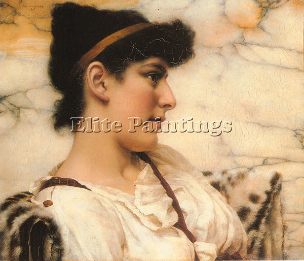 JOHN WILLIAM GODWARD SIESTA ARTIST PAINTING REPRODUCTION HANDMADE OIL CANVAS ART