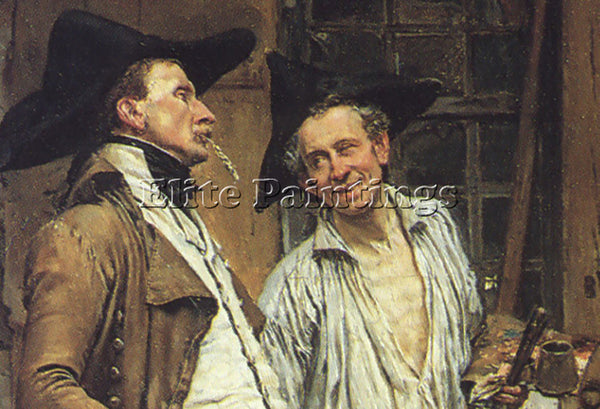 JEAN-LOUIS ERNEST MEISSONIER THE SIGN PAINTER 23 5X17 5IN DETAIL ARTIST PAINTING